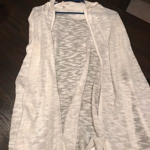 Women's sleeveless hooded long cardigan. NWT